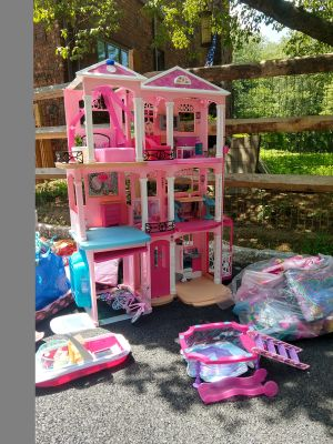 Barbie dream house plus other Barbie accessories