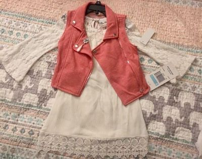Size 5 NWT bought from Belk...includes dress,vest and necklace