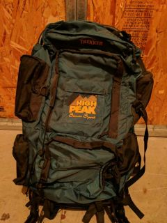 Hiking backpack with external frame