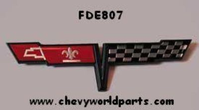 Sell 1981 CORVETTE FUEL GAS DOOR EMBLEM NEW 81 motorcycle in Bryant, Alabama, US, for US $43.95