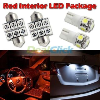 """Sell 6 Red Led Lights For Map T10+ Dome 1.25""""+ License Plate Interior Package motorcycle in Cupertino, CA, US, for US $14.99"""