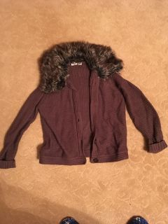 Cato Brown Fur Sweater. Med