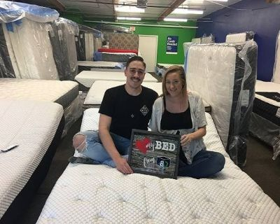 BRAND NEW CALKING MATTRESS SET ONLY-!