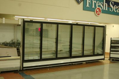 Industrial Heatcraft 6 Glass door Reach-In Display Refrigerator and Freezer