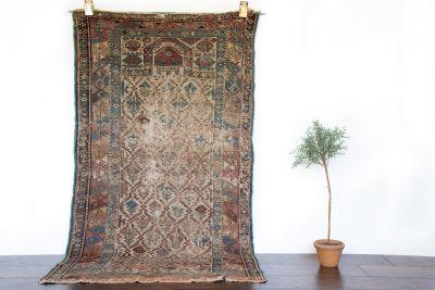 """Caucasian Prayer Rug, Antique - 3'2"""" x 5'9"""""""