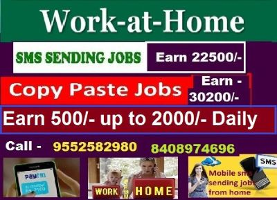 Data entry job /  copy paste job / SMS sending jobs