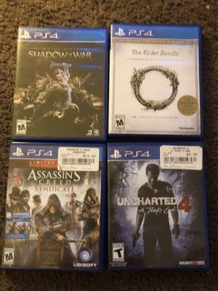 PS4 Games - 15 for 4, 5 for 1