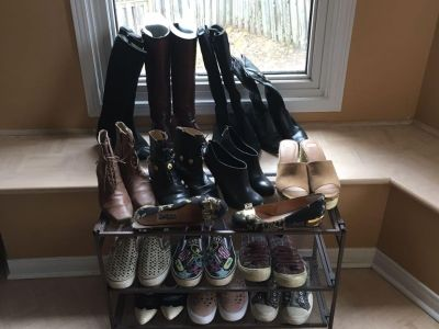 15 pairs of designer boots and shoes.