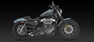 Buy Vance & Hines Sideshots Black Exhaust 04-11 Harley Davidson XL motorcycle in Ashton, Illinois, US, for US $629.96