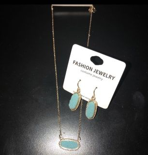 Pair of Earrings & Necklace Set
