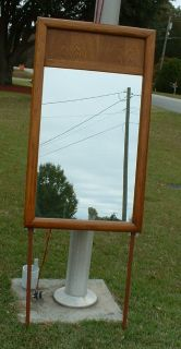 OAK wood dresser mirror