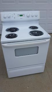 White / Electric Stove