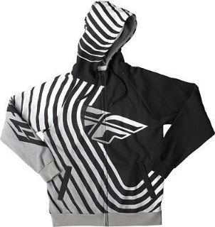 Purchase Fly Racing Sonar Hoody Black/White Sweatshirt S/M/L/X/2X motorcycle in Hinckley, Ohio, United States, for US $84.95