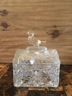 Crystal bird container