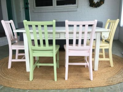 Land of Nod kids table and chairs