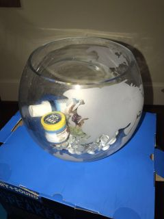 Beta Fish Bowl/Supplies