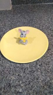 Mouse cheese plate, vintage