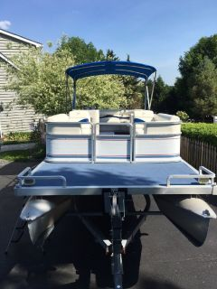 1991 Harris 24' Flote-boat & trailer