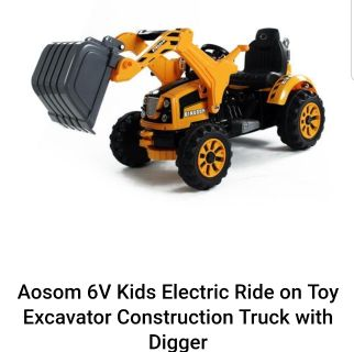 Kids Ride On Digger Tractor