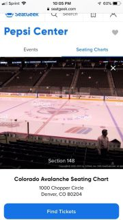 Excellent Avalanche tickets