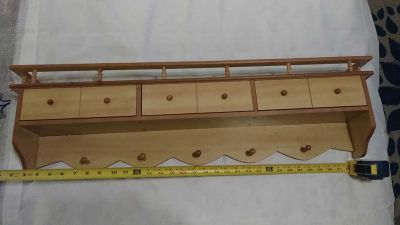 Hanging Shelf with cubby drawers and balcony top