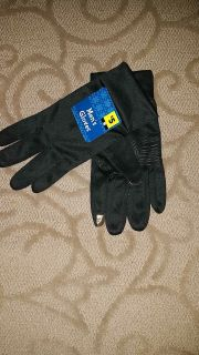 NWT men's black touch screen winter gloves