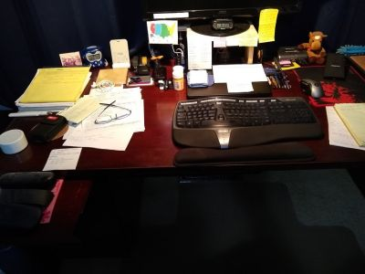 """Executive """"U"""" Shaped Desk with adjoining desk and Credenza"""
