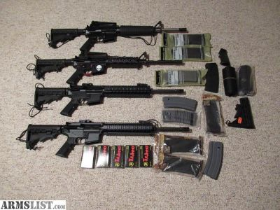 For Trade: 4 AR15's for trade/ want a golf cart