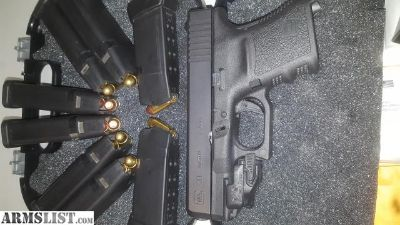 For Sale: Glock 30 45acp w/ ghost trigger/ 6 extra glock 21 mags.