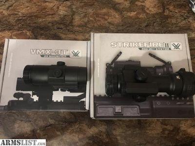 For Sale: vortex strikefire red/green dot and vortex 3x Magnifier