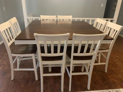 Counter height dining room suite for 8
