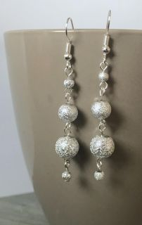 Silver Sparkle Stacked Earrings