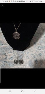 Set of NOLA watermeter earrings and necklace