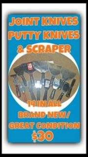 Joint Knives, Putty Knives, & Scrapers