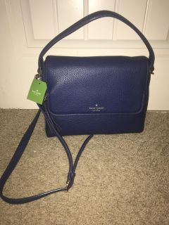 Blue Kate Spade Leather Crossbody Bag