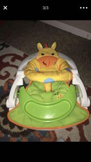 Fisher Price Sit-Me-Up floor seat with Tray