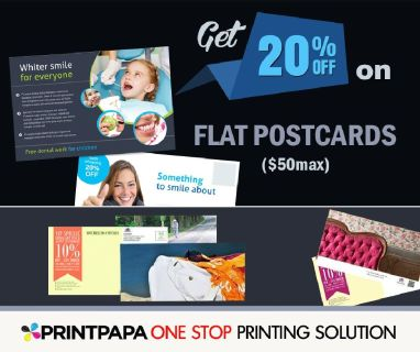 20% Off on Flat Postcards