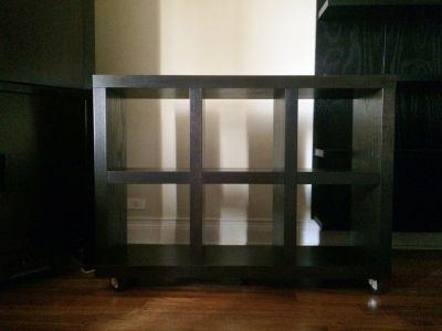 West Elm Rolling Storage Bookcase