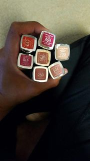 Various shades of Rimmel lipstick. Price is for each