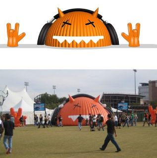 Exotic Inflatable Tents and Kiosks for Promotion