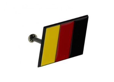 Buy GERMANY Flag Emblem Badge - German Flag - on BLACK slanted base FRONT with PINS motorcycle in Watertown, Massachusetts, United States, for US $11.90
