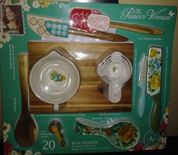 20 pieces Pioneer Woman bakers set. Beautiful gift idea.