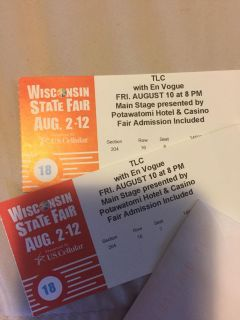 2 Tickets to see TLC with En Vogue (State Fair admission included)