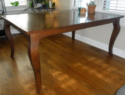 SALE PENDING - Vintage LARGE Wood Farmhouse Style Kitchen / Dining Room Table w/Leaf