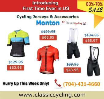 70% OFF on Monton Cycling Jersey & Accessories @ Classic Cycling
