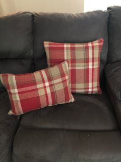 Throw pillow covers with inserts