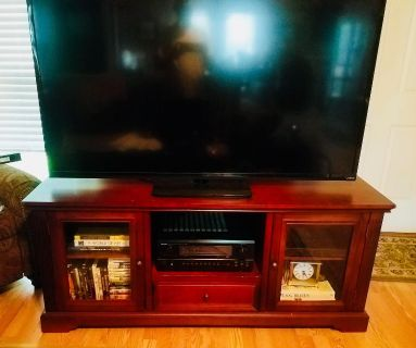 Cherry Colored TV Stand/Entertainment Center