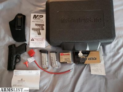 For Sale: New Out of Box Smith & Wesson M&P 9mm Shield, 2 full boxes of ammo, 2 Magazines, Safe, Gun Lock, and Holster