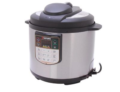 Brand New tatung tpc-6lb stainless steel electric pressure cooker 6 quart silver gray