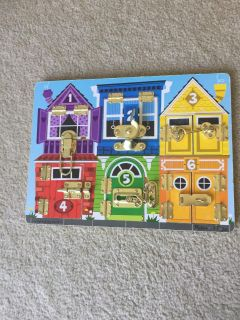 Melissa and Doug locks and latches game